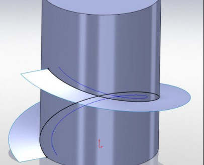 Helix op surface m.b.v. intersection curve4